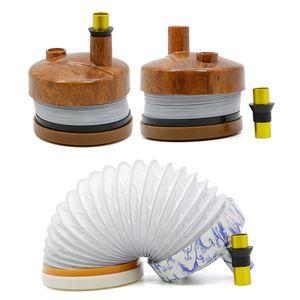 tubi Bukket Pipe Stretchable plastica per Dry Herb Tabacco Gravity portatile flessibile della novità di viaggio della mano del tubo Bong