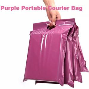 50pcs / lots Lila Einkaufstasche Eilbeutel Kuriertasche Self-Seal Adhesive dicke wasserdichter Kunststoff Poly-Umschlag Mailing-Tasche