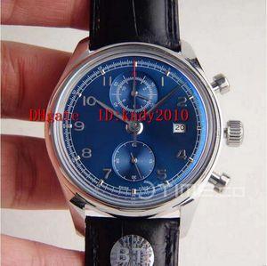 Caso BTF portugués IW390406 Reloj de pulsera clásico cronógrafo de acero inoxidable Edición Azul Dial reloj resistente al agua A.7750 mecánico