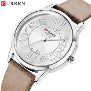 Venda Por Atacado mulheres relógio de couro de luxo relógio de quartzo moda casual simples relógio de pulso mulheres genebra assista 2019 relogio feminino