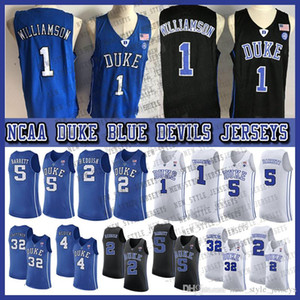 1 Sião Williamson jersey 2019 NCAA Duke Blue Devils Jersey 5 RJ Barrett 2 Cam Reddish 32 Christian Laettner Zion College Basketball Wears
