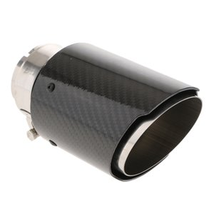 63mm ومدخل 89mm المخرج من ألياف الكربون السيارات ماسورة العادم الذيل الخمار كاتم الصوت