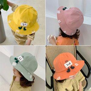 Children's autumn thin fashion cute boys and bucket bucket hat girls sunshade baby fisherman hat