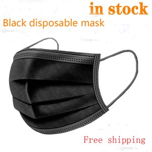 Disposable Face Masks 3 Laye Anti-Pollution dust protection Dust Filter Safety Masks with Elastic Ear Loop