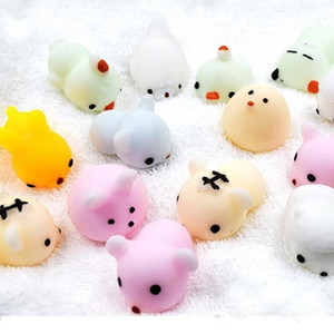 59 Estilo Squishy Slow Rising Jumbo Toys Animales Cute Kawaii Squeeze Cartoon Toy Mini Squishies Gato rebote Animal regalos encantos