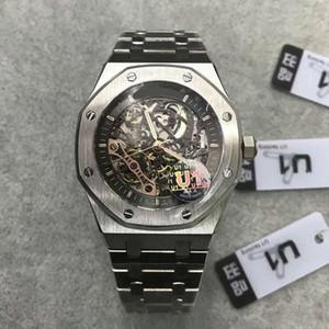2019 Новый Прибыл Автоматическая Мужские часы Royal Oak 15407st.oo.1220st.01 Серия 41мм Скелет набор многоцветных Мужские наручные часы