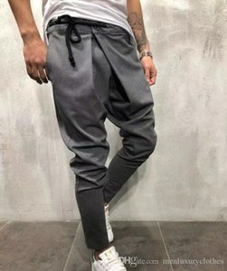 Mens Harem Pants Solid Color Ninth pants Pencil Jogger Pants HIHOP Street Casual