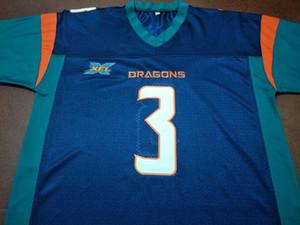 Personalizzato uomini giovani donne XFL Seattle Dragons # 12 Brandon Silvers # 3 Cole Tracy Football Jersey taglia S-4XL o personalizzato qualsiasi nome o numero jersey