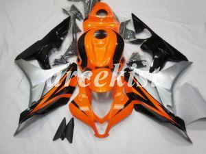 New ABS Injection Motorcycle Full Fairings kits Fit For HONDA CBR600RR F5 2007 2008 07 08 600RR bodywork set Orange Silver Black