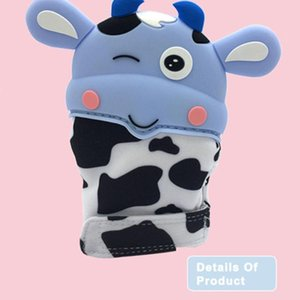 Cartoon Baby Teether Gloves Grade Silicone Molar MiInfant Children Mittens Kids Teething Gift