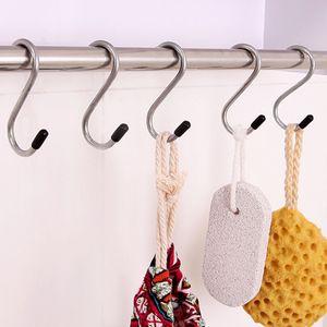 1Lot! S 모양의 걸이 스테인리스 문 걸이 ganchos para colgar 키 의류 코트 Handbag storage Rails holder Essential