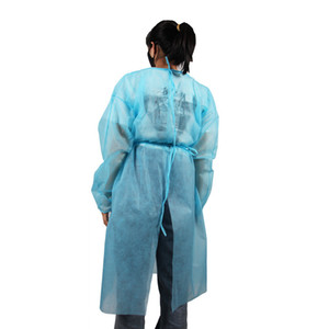Disposable Non Woven Protective Clothing Anti Dust Protection Gowns Anti Splash Safety Clothing Working Suit OOA8008