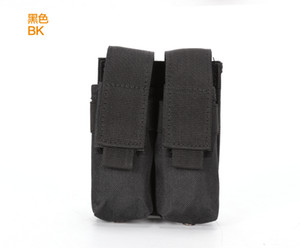 Tactical Molle Double Pistol Magazine Pouch Nylon Flashlight Holder Multifunction Waist Mag Pouch Holster