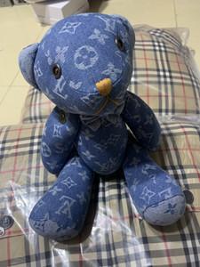 선물 종이 크리스마스 선물 아기 어린이 공동 베어 장난감 인형 생일 36CM 데님 곰 인형 봉제 인형 펜던트