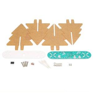 DIY pleine couleur Changement d'arbre de Noël LED acrylique 3D d'apprentissage électronique Kit PCB Board vert + Scrub acrylique HOT