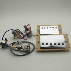 50s Alnico Humbucker Guitar Pickups Alnico5 1C Braided Shield Electric Guitar Pickups + Wiring Guitar Parts