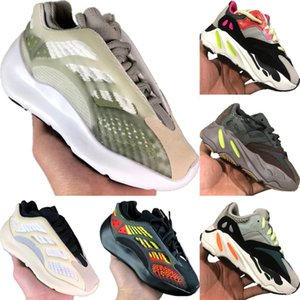 With Box 2020 Azael 700 V3 Static Reflective Kids Mesh Breathable Running Shoes Original Kanye West 700 V2 Kids Buffer Rubber Sports Shoes