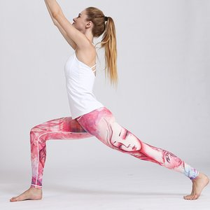 12 constellation printed Yoga Pants women tight fast dry elastic Leggings leisure sports outdoor fitness pants