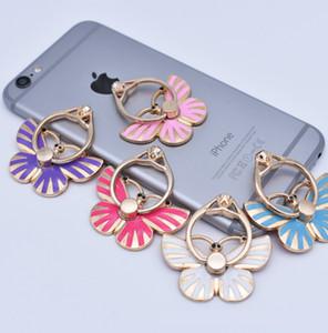 Support de téléphone universel Anneau Glitter Bling Kickstand Diamant Unique De La Mode En Métal Papillon Support Support De Téléphone Portable pour Samsung S9 ios