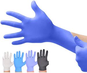 Luvas de látex descartáveis de borracha para luvas de limpeza Food borracha nitrílica Limpeza Preto luvas azuis Universal Doméstico Jardim