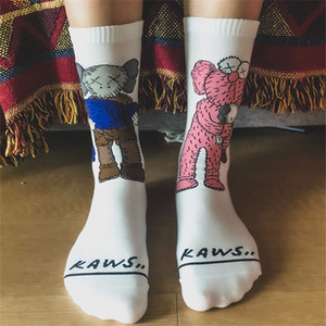 Calzini Tide Brand per Teenager Fashion Calzini per donna Calzini Cotton con stampa Cute Cartoon Character Taglie gratis