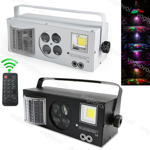 Lazer Flaş Gobo Strobe Kelebek Desenler DMX512 DJ Ekipmanları sahne ışık Dört Fonksiyonlar Lightting Etkisi DHL in1 Lazer aydınlatma 4