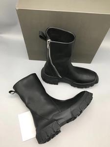 18ss botas altas con fondo grueso, moda árbol crema, cuero genuino, zapatos de desgaste dentro de Factory Outlet moda TPU suela botas