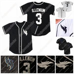 3 ILLENIUM Homens Mulheres Juventude Baseball Jersey Preto branco Personalizado Qualquer Número Qualquer nome Jerseys Todos Stiched