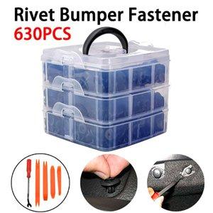 630Pcs Clips Retenue Car Fixations Auto Pousser Clips garniture Pin Rivet Bumper Kit + tournevis