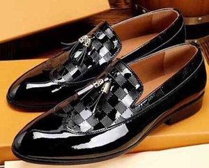 Formal Dress Shoes For Gentle brands Men Bright skin Genuine Business dress Leather Shoes Pointed Toe Mens designer Business Oxfords Casual