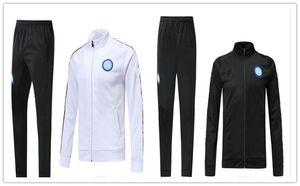 De calidad superior 2018 Napoli trackSuit Hamsik Insigne Callejon Zielinski 18/19 SSC Nápoles chaqueta larga con cremallera conjunto 2018 2019 traje de fútbol veste