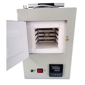 Ceramic Fiber mufla fechado pequeno Forno Elétrico Integrado Programa de Controle de alta 1.5kw Temperature