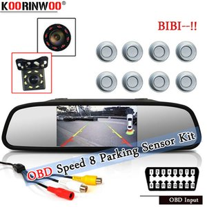 Koorinwooo Electromagnetic Parking Sensor OBJECT Speed For Front 19mmm Indicator Probes Parking System With HD Monitor Camera car