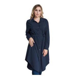Günlük Gömlek Elbiseler Müslüman Malezya Standı Yaka Tek Breasted Uzun kollu elbise Ortadoğu Kadınlar
