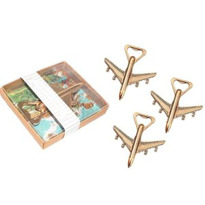 Pack of 12 Airplane Bottle Opener Gift Box Air Plane Travel Beer Bottle Opener Party Favor Wedding Birthday Decorations