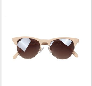 Semi-steel ring round sunglasses high-end star sunglasses of the same type