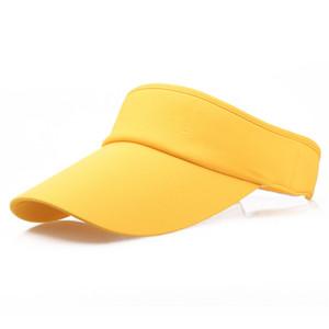 Laufen Caps Männer Frauen Sport Stirnband Klassische Sun Sports Visor-Hut-Kappe lässig Tennis Wandern Sonnenhut # 2H11