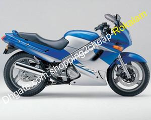 ZZR250 Street Motorbike Shell Aftermarket Kit For Kawasaki ZZR-250 ZZR 250 1990-2007 Popular Body work Fairing Silver Blue