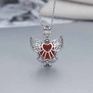 tomada de fábrica S925 prata caixa mágica colar de moda criativa coração da pérola gaiola pendant DIY WMPD001
