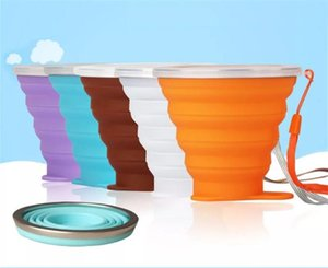 Hot Sale Portable Silicone Retractable Folding Cup 8 Colors Outdoor Telescopic Collapsible Folding Tumblerful Cups 270ML Folding Water Cup