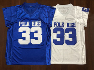 Al Bundy # 33 Polk altos hombres del jersey del fútbol Casado envío libre con niños cosido blanco azul de S-3XL de alta calidad