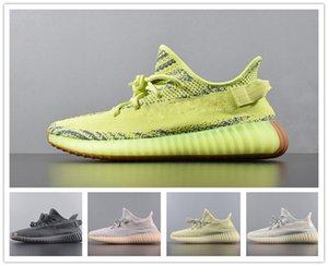 2019 Hot Kanye West Antlia Summer Rose GID Phosphorescent Clay Noir statique Clay Chaussures de course Hommes Femmes V2 Sneakers Designer