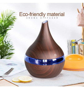 300ml USB Electric Aroma Essential Oil Diffuser Humidifier Wood Ultrasonic Air Essential Oil Aromatherapy Mist Maker for Home