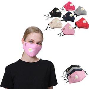 Yetişkin solunum valf toz maskesi t düz renk yüz maskesi Kat kadınların toz geçirmez öğrenci Tasarımcı Maskeler T2I51074