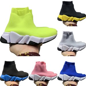 2020 Kids Speed Stretch Knit High Top Breathable Sports Sock Boots Originals Speed Kids Buffer Rubber Athletic Shoes