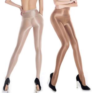 Nouvelles femmes dames sexy pure huile brillant brillant collants collants classiques collants bas