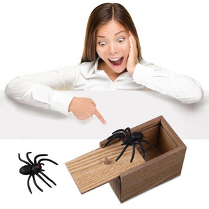 Prank Toy Surprise Box Animal Spider Scatola di legno divertimento scherzo pratico Malizioso giocattolo regalo Scared intero giocattolo Grida