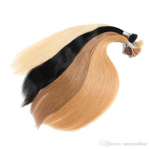 300strands I Tip extensiones del pelo humano recto con punta de la queratina del pelo Fusión color de pelo precios al por mayor 300g
