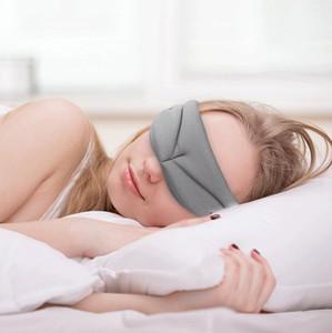 3D Eye Cover Dormir Máscara Eyeshade Escritório Escritório Dormir Mulheres Óculos de Óculos de Óculos respirável Soft Ajustável Eyepatch Black Blackfold RRA2415