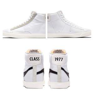 Slam Jam X Blazer Mid 1977 Vintage Canvas Shoes Men Women 77 Black White Low Sneakers Size 36-44